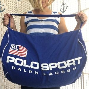 Vintage Polo Ralph Lauren Flag USA Sport Duffle